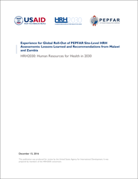 PEPFAR Rapid Site-Level Assessment Lessons Learned Report Thumbnail